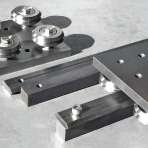 linear guide roller carriage and spacer